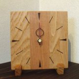 円司 (ENJI)クルミとクリのハンドメイド置時計 手作り 選べるデザイン 大